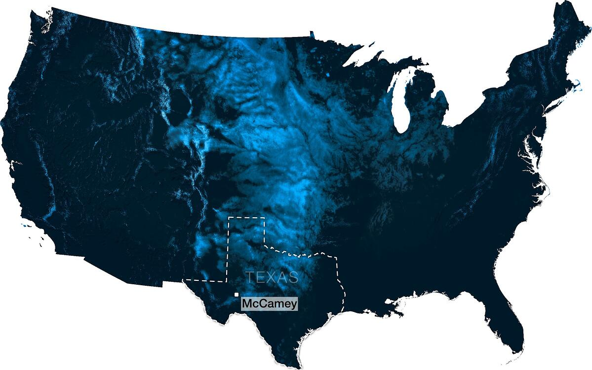 the Great Plains winds map