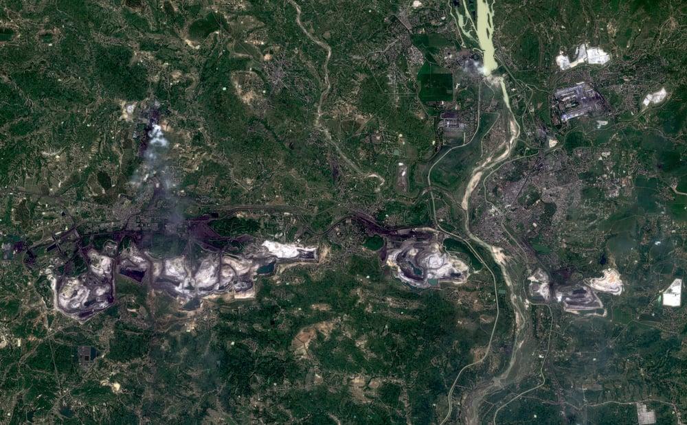 Korba, India in September (Sentinel-2)