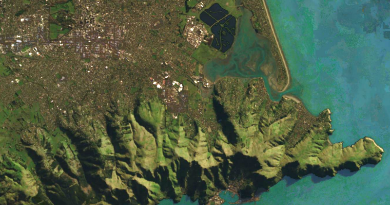 A view of Christchurch, New Zealand from Landsat8