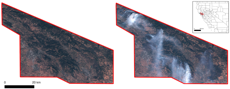Sentinel-2 data with a red-green-blue color combination