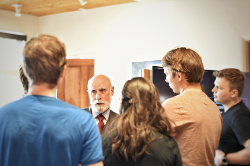 Dr. Cerf speaking to a group