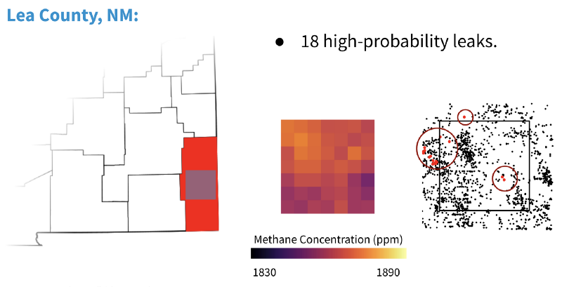 Proposed process for methane leak detection using the Descartes Labs DataRefinery