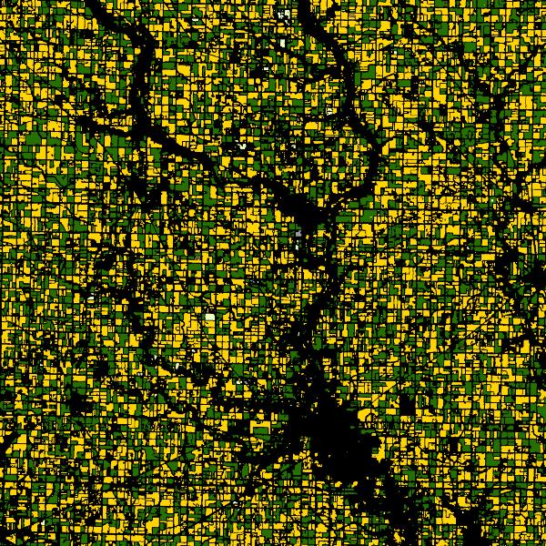 Fields in Humbolt County, Iowa