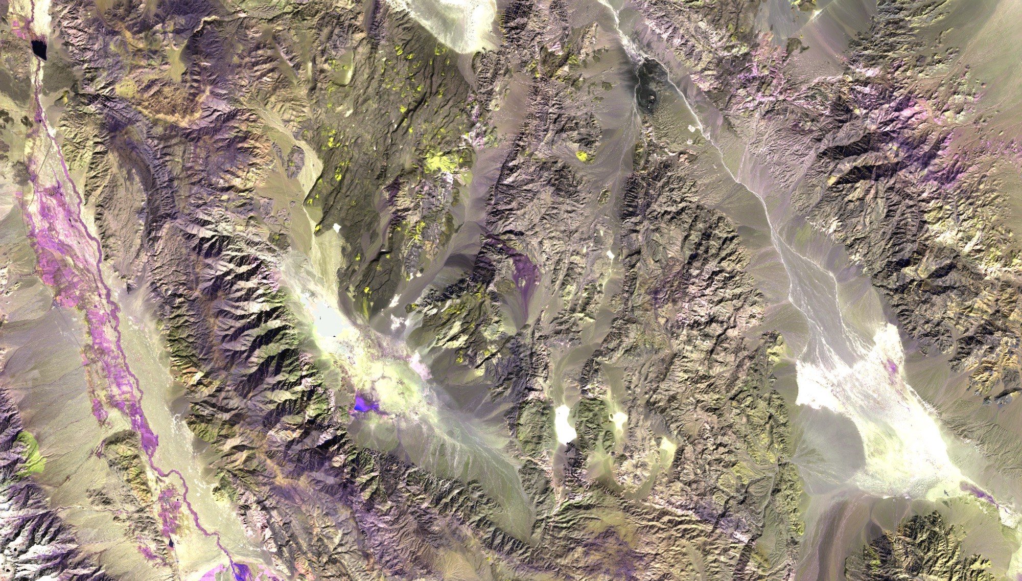 Sentinel-2 false color image of an area near Death Valley National Park,CA