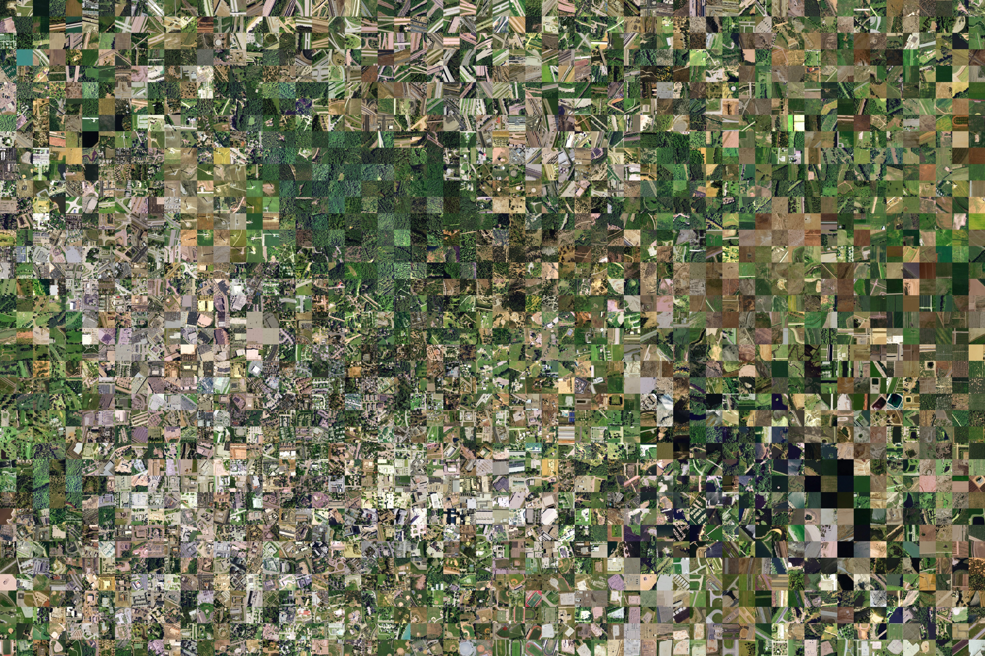 Images of the United States from the National Aerial Imagery Program, arranged by visual similarity.